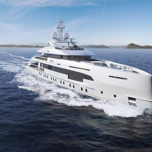 Heesen 5000 Hybrid 18650 yacht Nearby