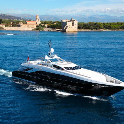 PERLE NOIRE yacht sale interior tour