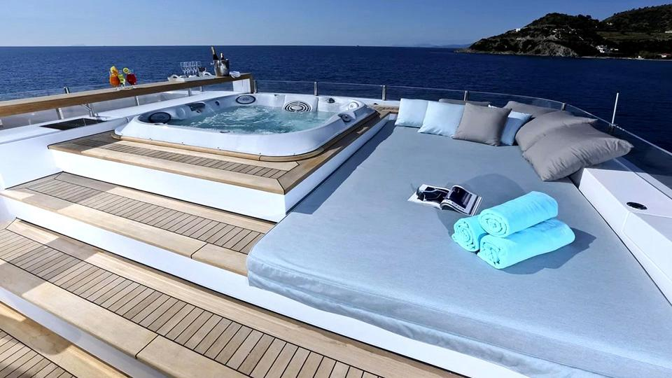 yachts with a jacuzzi