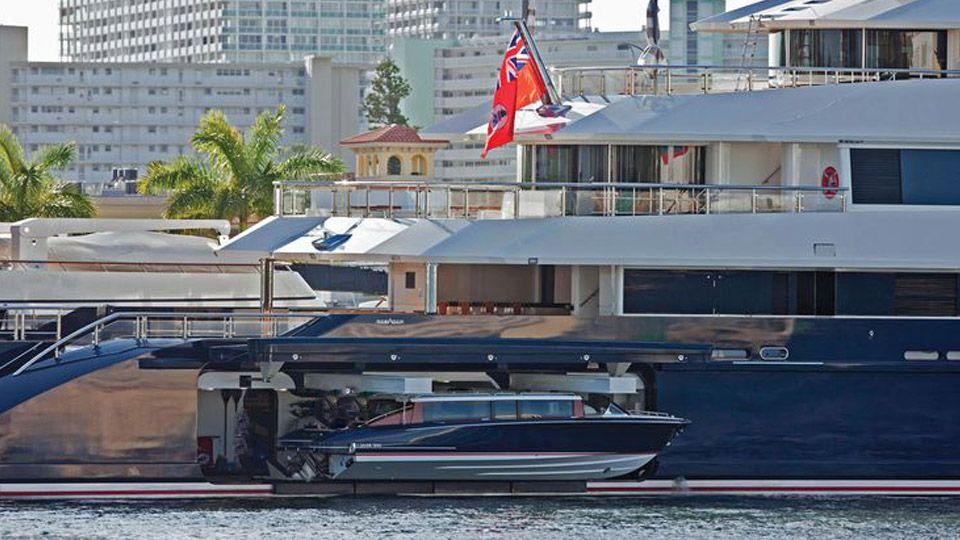 custom yacht tenders onboard the yacht seven seas yacht for sale