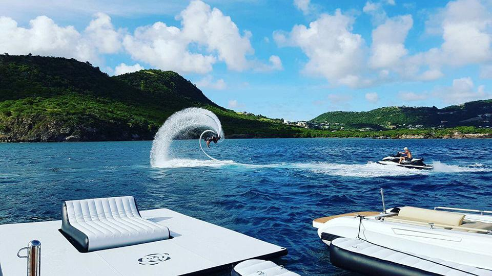 yacht water slide