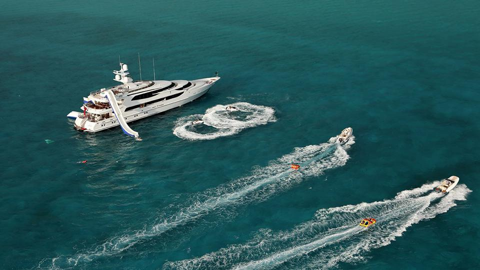 merle wood and associates yacht water slide on featured luxury yachts for charter