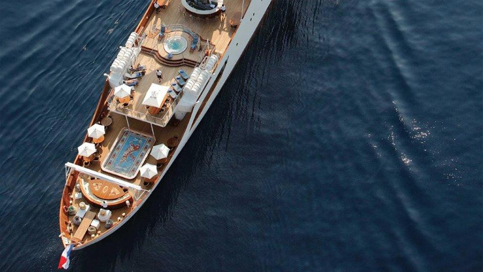 yacht with a pool