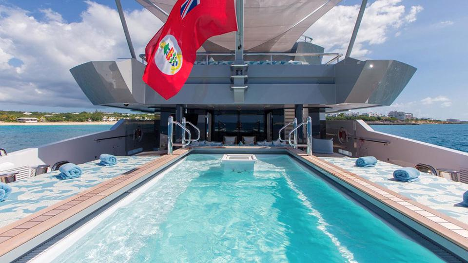 yacht with a pool yacht for charter sale with pools