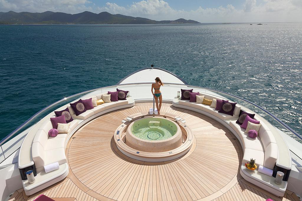 yacht with a jacuzzi