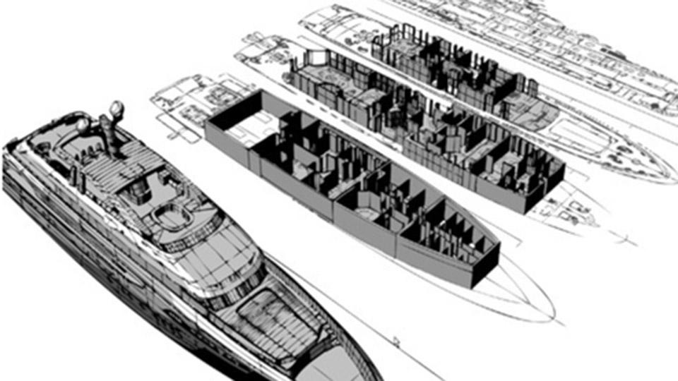 yacht construction expertise luxury yacht drawings and plans with a specification by merle wood and associates