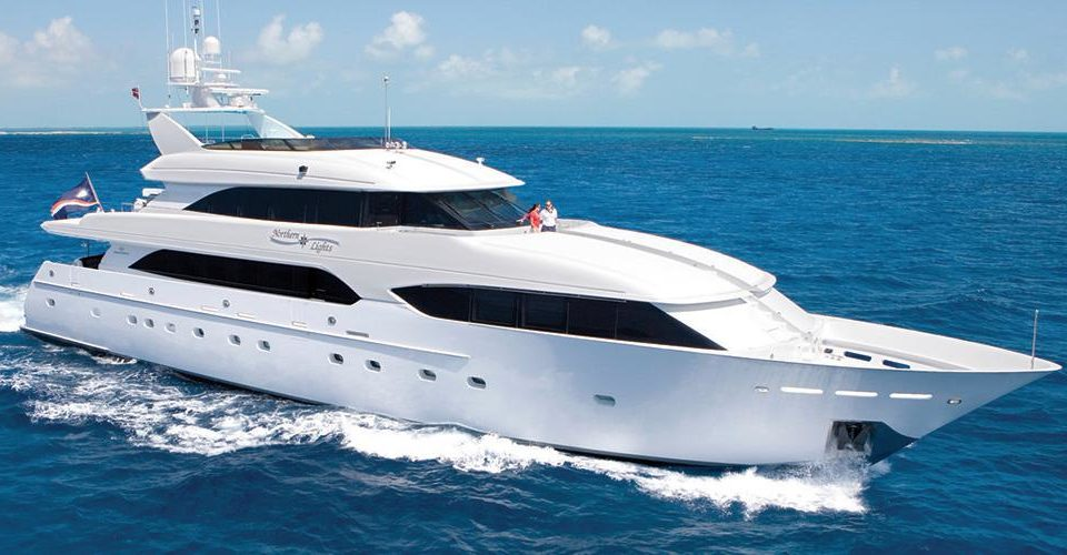 northern lights mega yacht for charter in the bahamas
