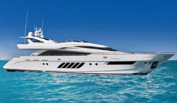 Lunasea V luxury yacht Palm Beach boat show