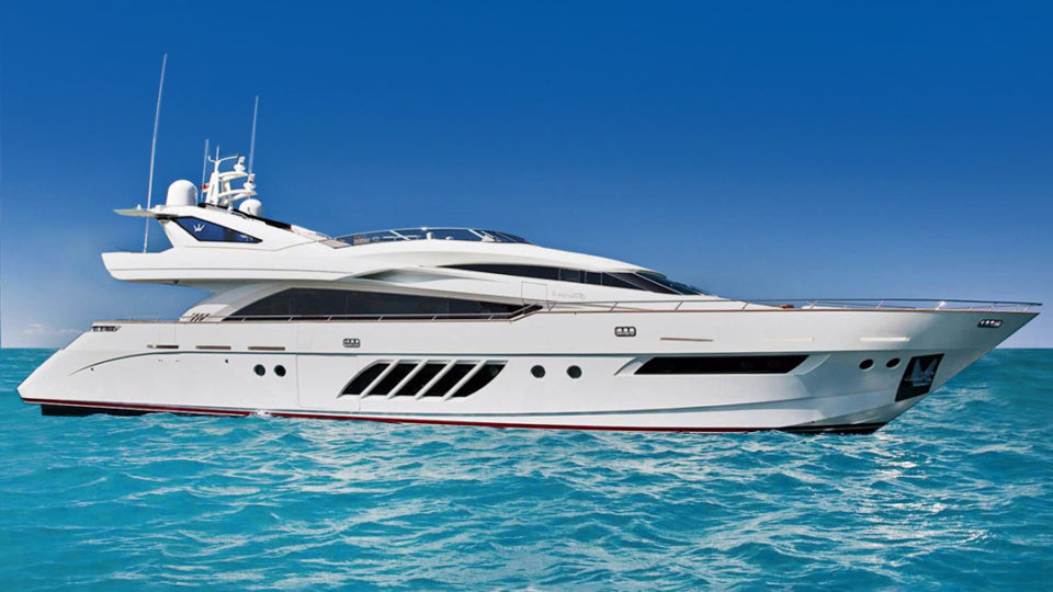 Lunasea V luxury yacht Palm Beach boat show