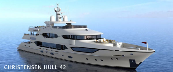 luxury yacht for sale Christensen hull 42