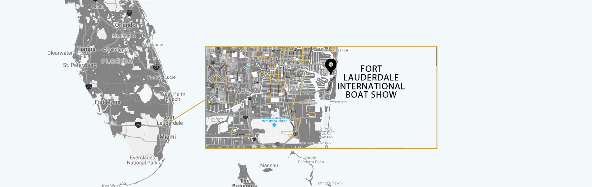 fort lauderdale boat show location map