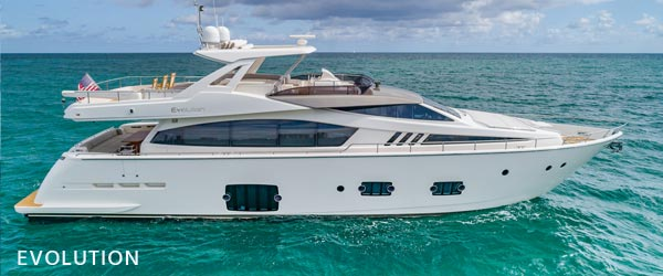 luxury yachts for sale evolution