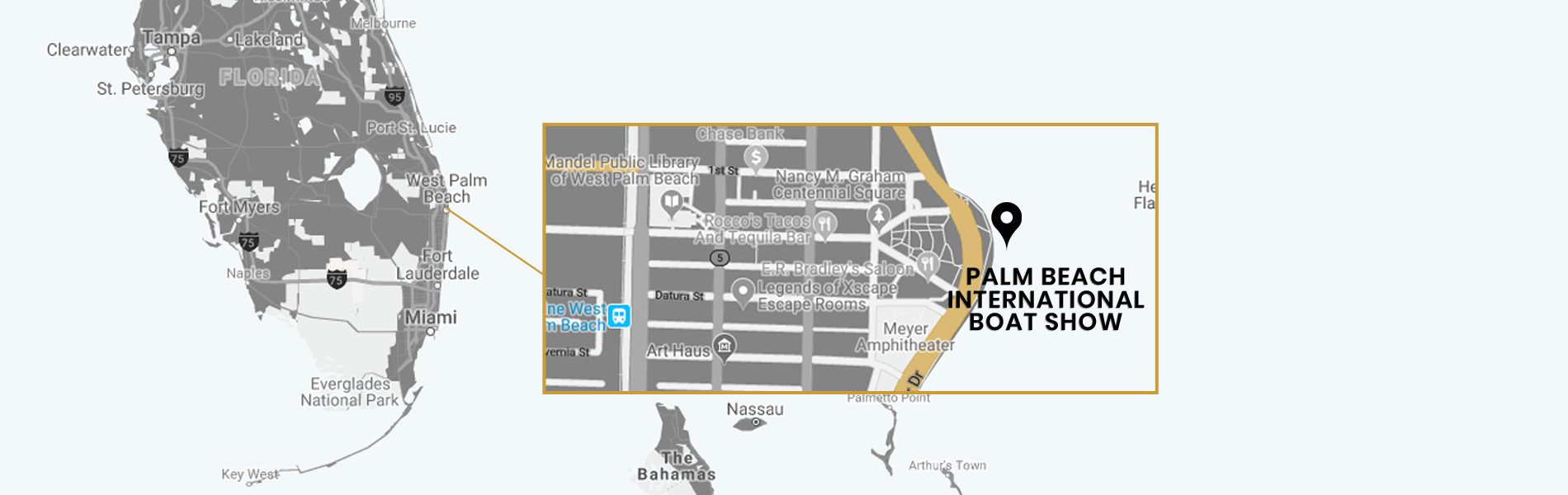 2019 palm beach international boat show map of yachts for sale with yachts for charter