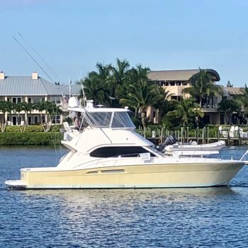 Sanctuary 47-foot Riviera sportfish yacht sold by Merle Wood & Associates