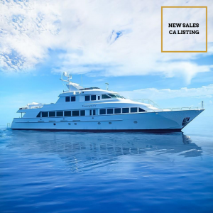 TRANQUILITY 130-foot Hatteras luxury superyacht for sale with Merle Wood & Associates in South Florida