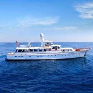 BLUE 105-foot classic Feadship luxury superyacht for sale with Merle Wood & Associates