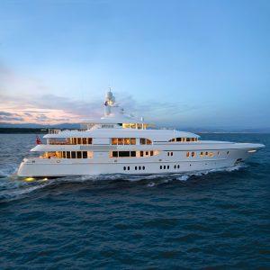 HUNTRESS 197-foot Lurssen luxury superyacht for sale with Merle Wood & Associates