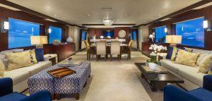 Cru 96-foot Westship luxury superyacht for sale with Merle Wood & Associates Salon