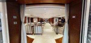 HUNTRESS 197-foot Lurssen luxury superyacht virtual tour for sale with Merle Wood & Associates