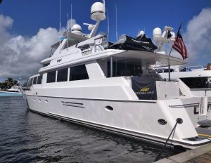 CRU 96-foot Westship luxury yacht at 2020 Fort Lauderdale International Boat Show FLIBS with Merle Wood & Associates