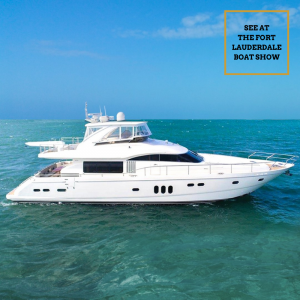 IMPOSSIBLE DREAM 75-foot Princess Viking luxury yacht FLIBS Fort Lauderdale boat show 2020