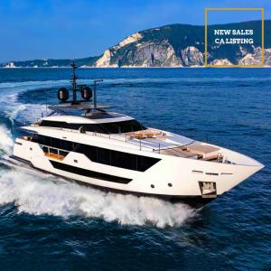 FALCON CA 106 Ferretti Custom Line luxury superyacht new CA for sale with Merle Wood & Associates