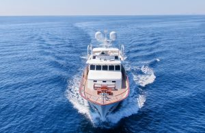 BLUE 105-foot Feadship classic luxury yacht for sale with Merle Wood & Associates