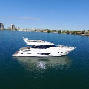 TT JAZZ 72-foot princess luxury yacht for sale with Merle Wood & Assoicates