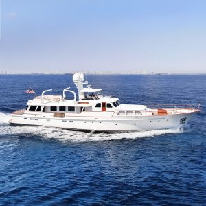 BLUE 105' classic Feadship yacht for sale with Merle Wood & Associates