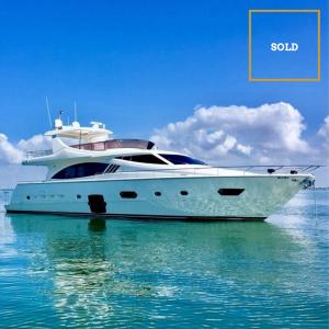 DR NO 75' Ferretti luxury yacht SOLD by Merle Wood & Associates