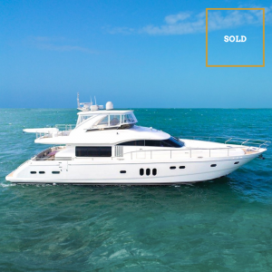 IMPOSSIBLE DREAM 75' Princess Viking luxury yacht sold by Merle Wood & Associates
