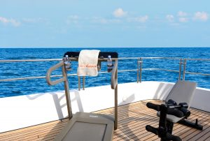 TE MANU 162' Codecasa luxury superyacht for sale with Merle Wood & Associatessundeck gym