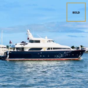 MYEERA 90-foot Ferretti Custom Line luxury superyacht SOLD by Merle Wood & Associates