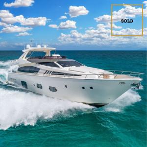 EVOLUTION 80-foot Ferretti luxury yacht SOLD by Merle Wood & Associates