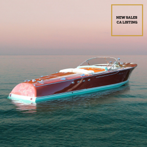 BERKELEY SQUARE 26-foot classic wooden Riva yacht for sale with Merle Wood & Associates