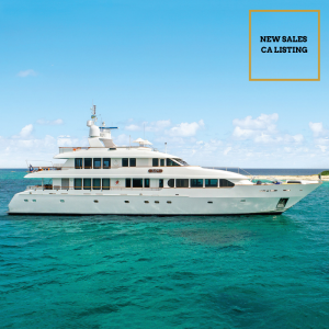 JUST SAYIN' 132-foot Trident luxury superyacht for sale with Merle Wood & Associates